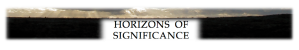 Horizons of Sigificance footer